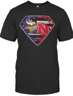 Superman New Minnesota Vikings And Nebraska Cornhuskers T-Shirt