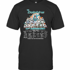 The Miami Dolphins 55Th Anniversary 1966 2021 Thank You For The Memories Signatures T-Shirt Classic Men's T-shirt