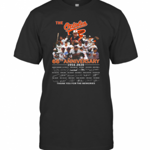 The Orioles 66Th Anniversary 1954 2020 Signature Thank You For The Memories T-Shirt Classic Men's T-shirt