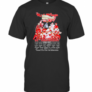 The Red Wings 95Th Anniversary 1926 2021 Thank You For The Memories Signatures T-Shirt Classic Men's T-shirt