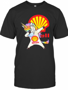 Unicorn Mask Dabbing Shell Logo T-Shirt