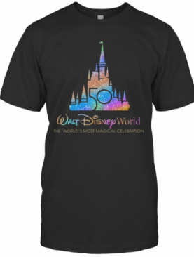 Walt Disney World 50Th Anniversary 1970 2020 The World'S Most Magical Celebration T-Shirt