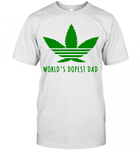 Weed World'S Dopest Dad T-Shirt Classic Men's T-shirt