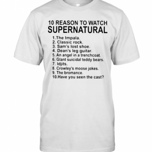 10 Reason To Watch Supernatural T-Shirt Classic Men's T-shirt