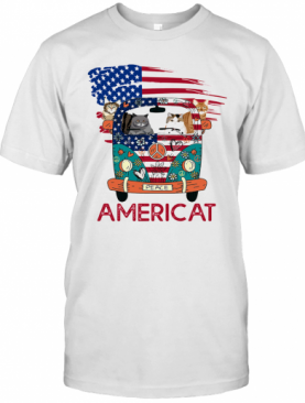 Americat Car American Flag Independence Day T-Shirt