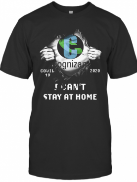 Blood Insides Cognizant Logo Covid 19 2020 I Can'T Stay At Home T-Shirt