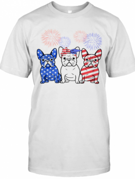 French Bulldog American Flag 4Th Of July T-Shirt