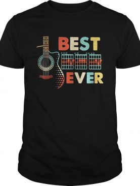 Guitar best dad ever happy fathers day shirt