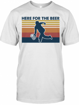 Here For The Beer Vintage Retro T-Shirt