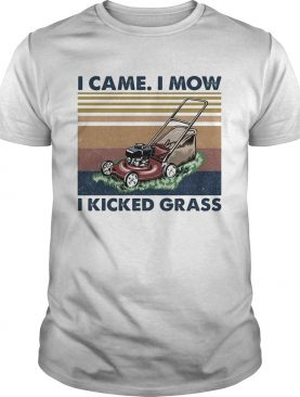 I came I mow I kicked grass vintage retro shirt