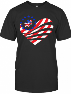 Independence Day Autism Heart T-Shirt