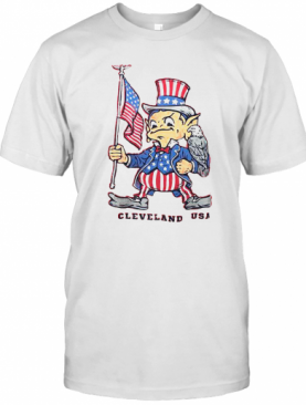 Independence Day Flag Eagles Cleveland USA T-Shirt