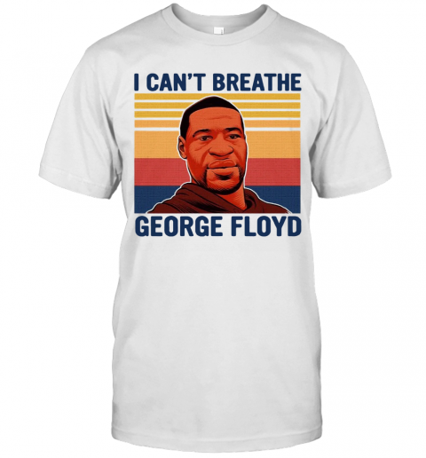 Justice For George Floyd Shirt I Can't Breathe Vintage T-Shirt Classic Men's T-shirt