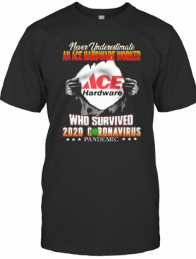 Never Underestimate ACE Hardware Who Survived Hand T-Shirt