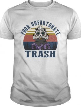 Raccoon poor unfortunate trash vintage retro shirt