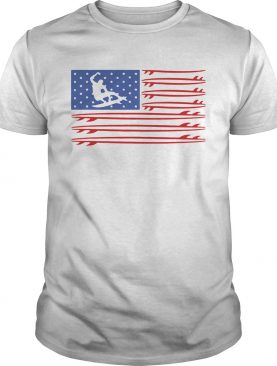 Skateboarding American flag veteran Independence Day shirt