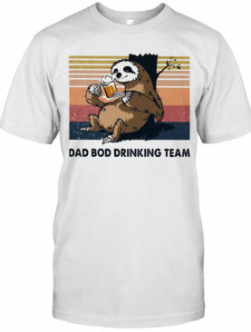Sloth Beer Dad Bod Drinking Team Vintage T-Shirt