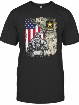 U.S.Army Veteran American Flag Independence Day T-Shirt