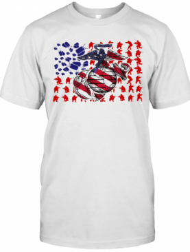United States Marine Corps American Flag Veteran Independence Day T-Shirt