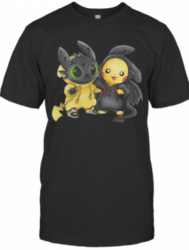 Baby Toothless And Pikachu T-Shirt