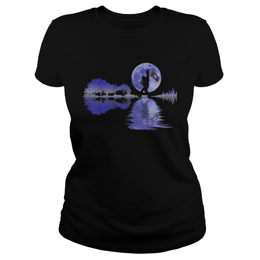 Bigfoot flag river moon tree  Classic Ladies