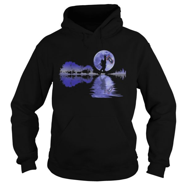 Bigfoot flag river moon tree  Hoodie