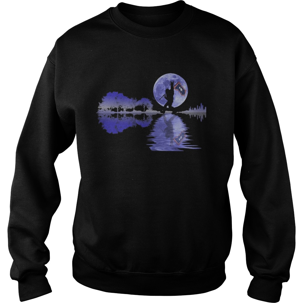 Bigfoot flag river moon tree  Sweatshirt