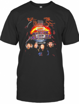 Black Sabbath Band Member Signatures Guitar T-Shirt