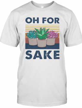 Cactus Oh For Sake Vintage Retro T-Shirt
