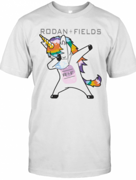 Dabbing Unicorn Mask Rodan Fields Logo Coronavirus T-Shirt