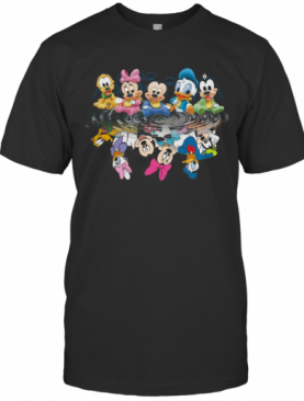Disney Mickey Mouse Chibi Cute Water Mirror Reflection T-Shirt