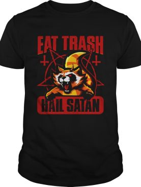 Eat Trash Hail Satan Cat Red shirt