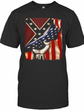 Flag American And Dixieland T-Shirt