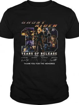 Ghost rider 13 years of release 2007 2020 thank you for the memories signatures shirt