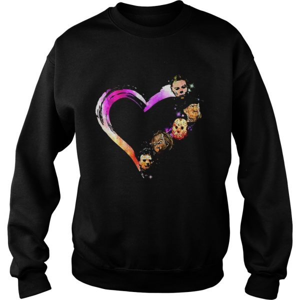 Halloween horror characters heart  Sweatshirt
