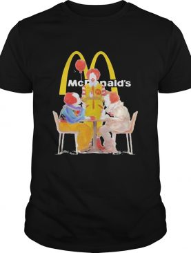 Halloween joker characters mcdonalds shirt