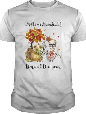 Halloween skeleton its the most beautiful time of the year shirt