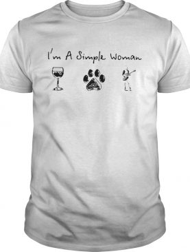 Im a simple woman Wine Dog Guitar shirt