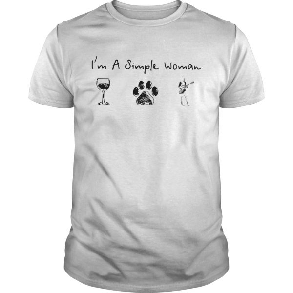 Im a simple woman Wine Dog Guitar  Unisex