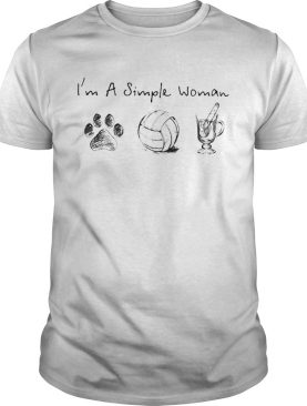 Im a simple woman dog paw volleyball shirt