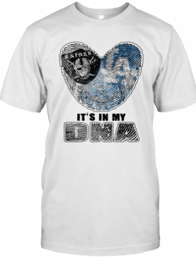 Los Angeles Raiders And Los Angeles Dodgers Hearts It'S In My Dna T-Shirt