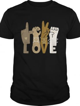 Love sign language black lives matter shirt