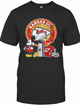 Mickey Mouse Kansas City Chiefs Champions Super Liv Bowl Football T-Shirt
