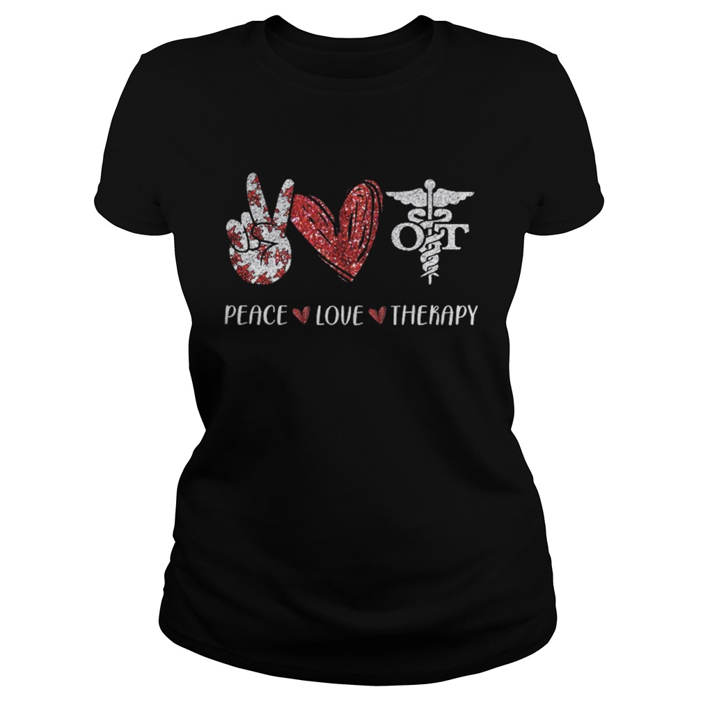 Peace Love Therapy Medical Logo Hand Heart  Classic Ladies