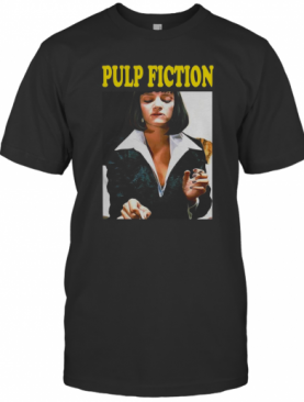 Pulp Fiction Uma Thurman Poster Official Tarantino Black Mens T-Shirt