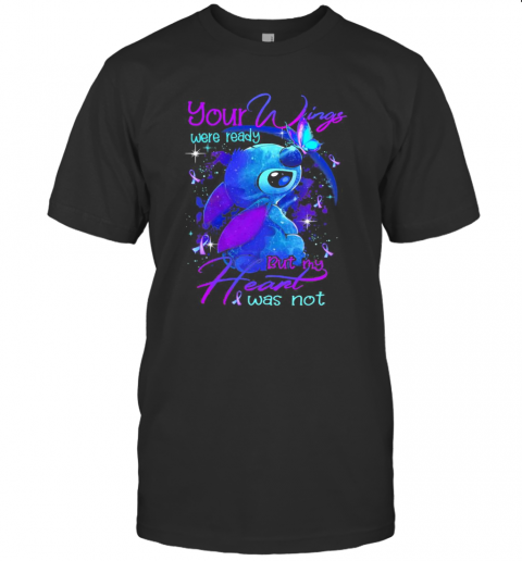 Stitch Your Wings Were Ready But My Heart Was Not Butterflies Cancer Awareness T-Shirt Classic Men's T-shirt