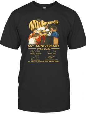 The Monkees 55Th Anniversary 1965 2020 Thank You For The Memories Signatures T-Shirt
