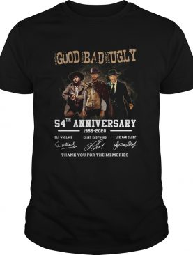The good the bad and the ugly 54th anniversary 1966 2020 thank you for the memories signatures shir