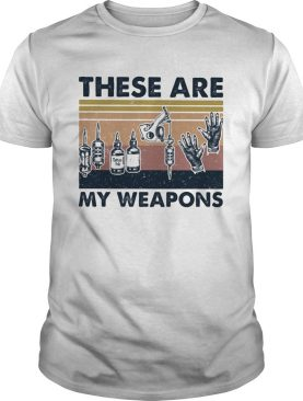 These Are My Weapons Glove Tatoo Tools Vintage Retro shirt