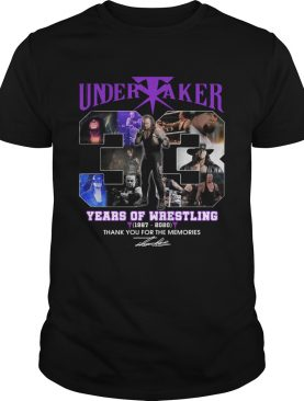 Undertaker 33 Years Of Wrestling 1987 2020 Thank You For The Memories Signatures shirt